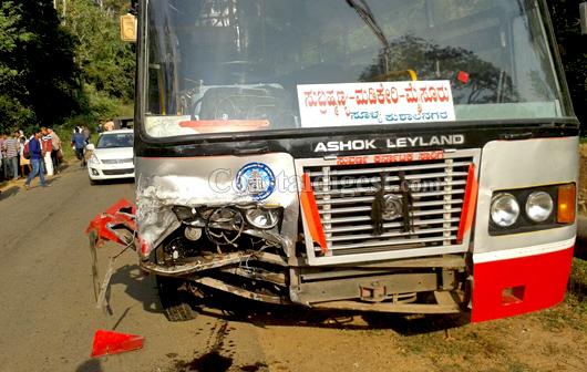 KSRTC bus rams into car killing two on spot near
