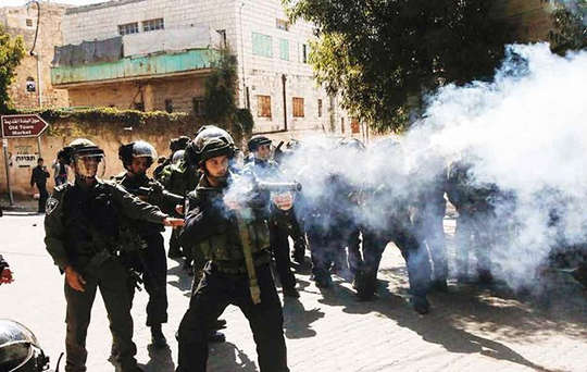 Israel military fire tear gas to disperse Lebanese protest