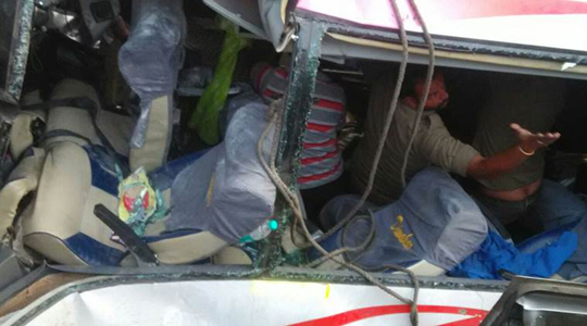 10 killed, several injured after bus accident in Krishna