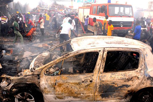 44 killed in blast at mosque and resturant in Central Nigeria