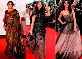Aishwarya stuns in flowy Elie Saab gown, saree at Cannes
