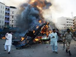 Gas cylinder blast on Pakistan school bus kills 17