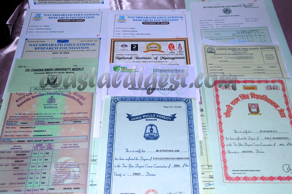 Fake certificate racket busted actor among two arrested cirtificate yadclub Choice Image