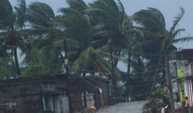 Cyclone Vayu turns