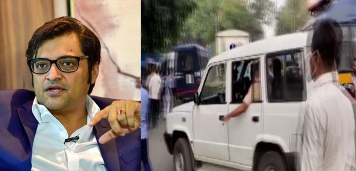 Khaskhabar/अर्नब गोस्वामी रिपब्लिक टीवी के प्रधान संपादक है,एक पुलिस